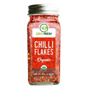 Organic Chilli Flakes Front 40g